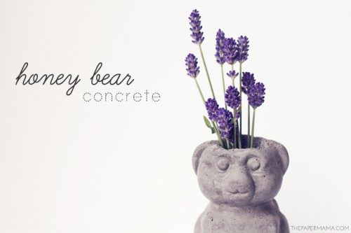 DIY Concrete Honey Bear Vase