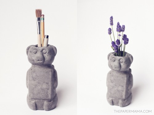 Diy Concrete Honey Bear Vase