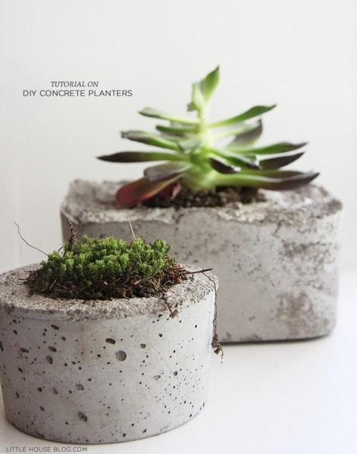 cool concrete planters (via aubreyandlindsay)