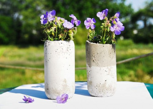 DIY Concrete Vases Of Classical Shape