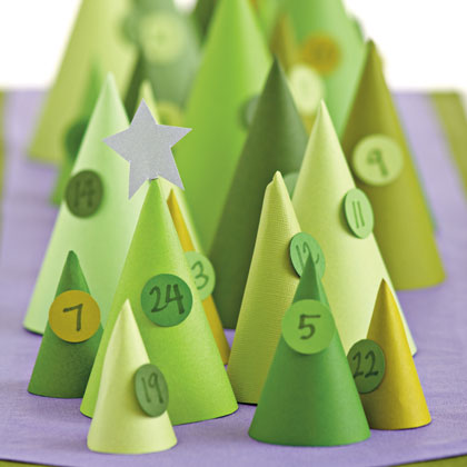 Diy Cone Advent Calendar