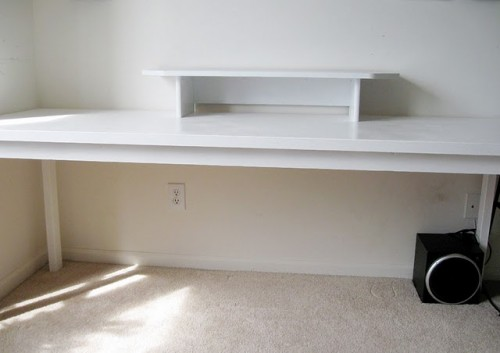 Diy Console Like Desk For Two