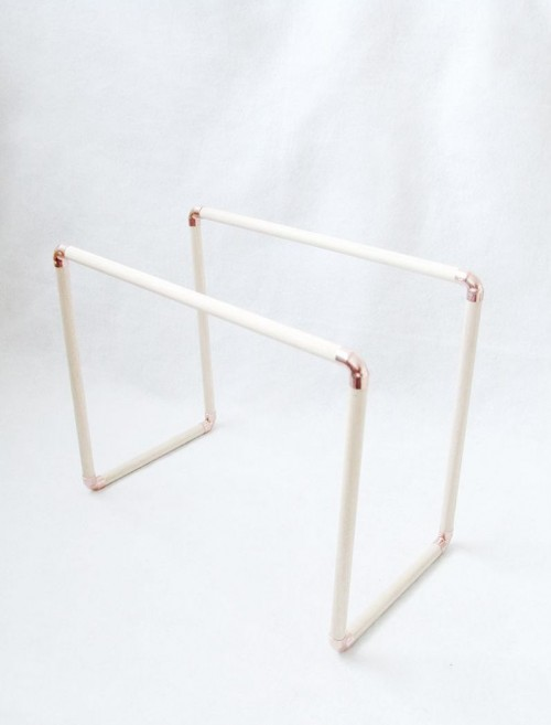 Diy Copper And Pine Magazine Rack