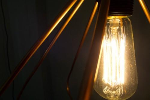 Diy Copper Geometric Pendant Lamp