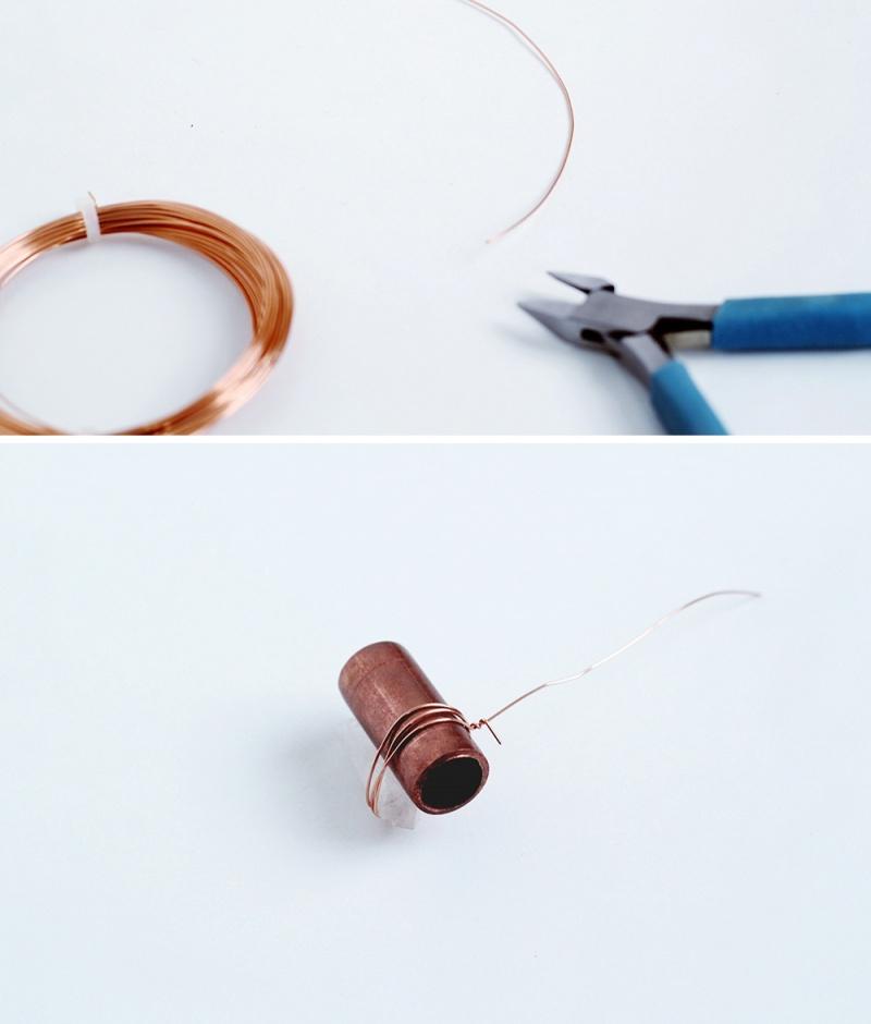Diy Copper Pipe And Quartz Necklace