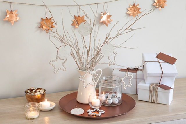 Picture Of Diy Copper Stars For Christmas Decor