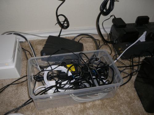 DIY computer cable organizer (via shelterness)
