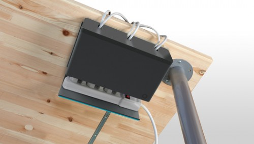 DIY under desk cable organizer (via shelterness)