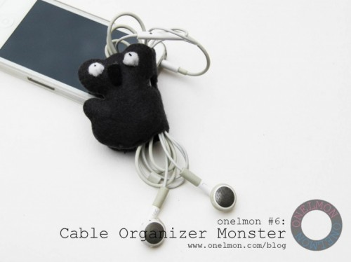 DIY cable organizer monster (via onelmon)