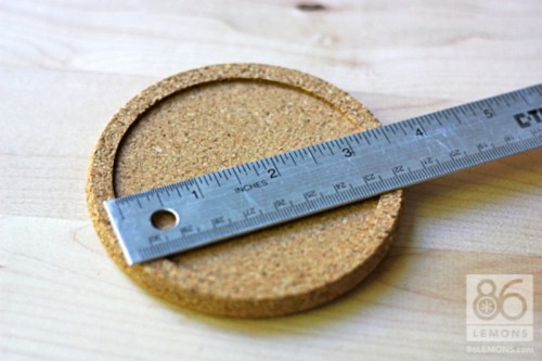 Diy Cork Coasters Decorated With Contact Paper