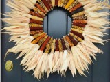 corn and husk wreath