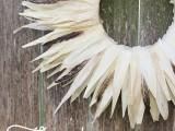 Thanksgiving husk wreath