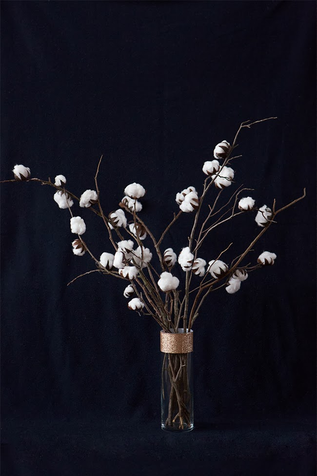DIY Cotton Plant Centerpiece