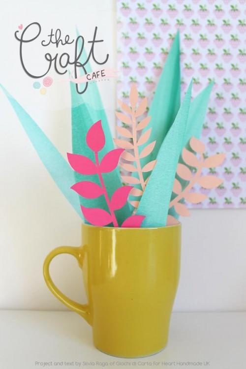 DIY Craft Cafe Pretty Paper Plants