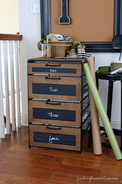 craft room chalkboard storage cabinet