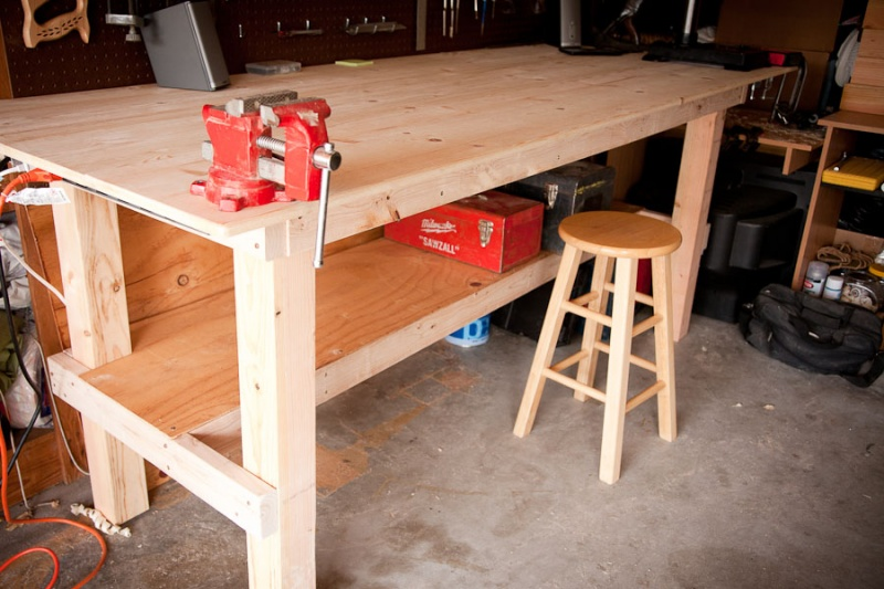 wooden work bench diy