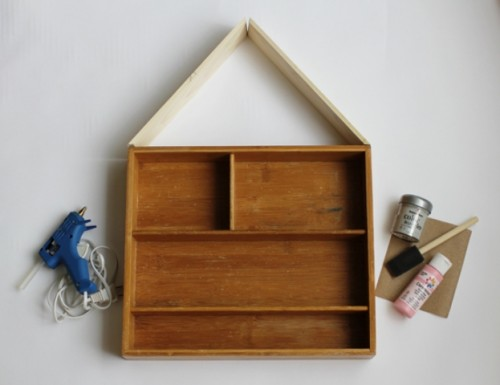 Diy Craft Storage House Organizer
