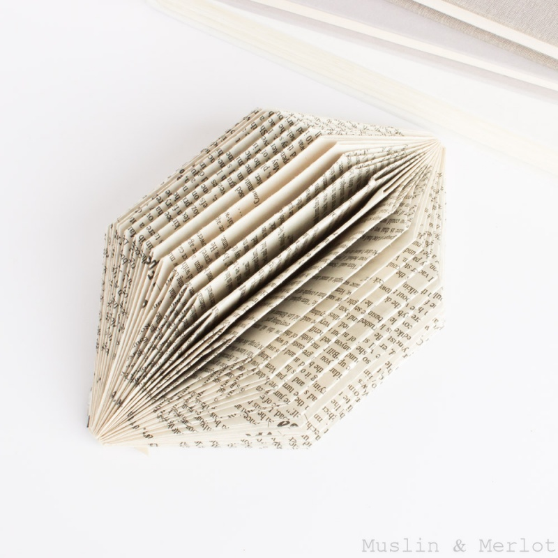 old book sculpture