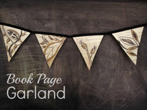 book page garland (via paperandfox)
