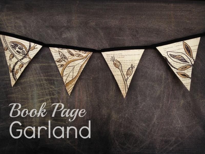 book page garland