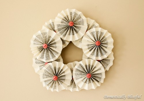rosette book wreath (via domesticallyblissful)