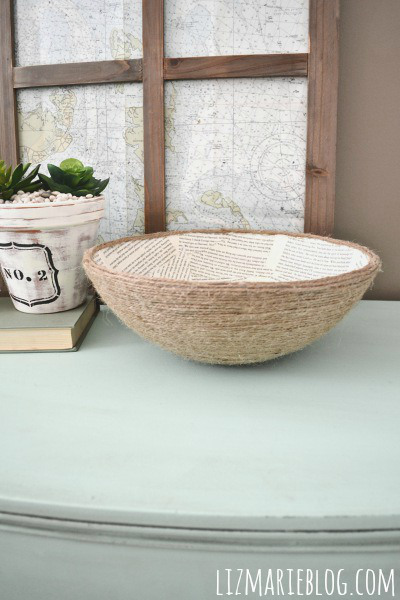 book page rope bowl (via lizmarieblog)