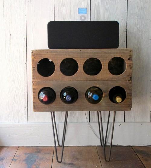 Diy Crate Wine Rack