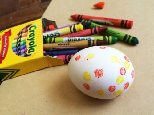 Diy Crayon Resist Easter Eggs