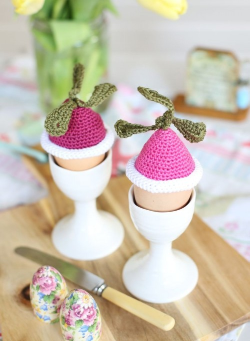 DIY Crochet Radish Egg Cozies For Easter