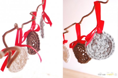 DIY Crocheted Flat Christmas Ball