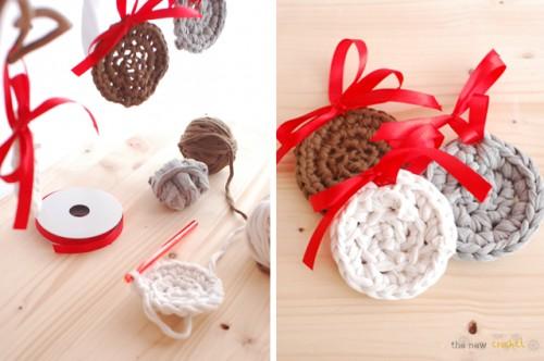 Diy Crocheted Flat Christmas Ball