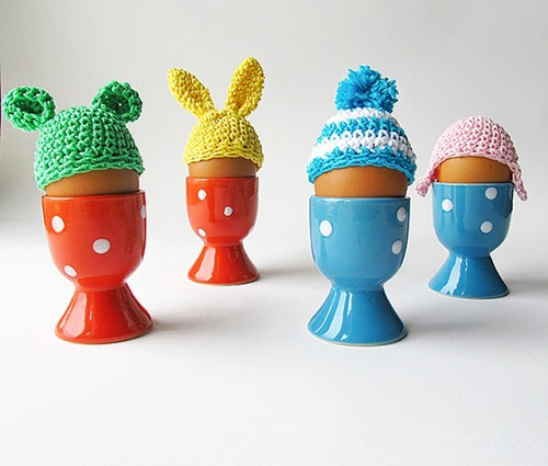 9 DIY Crocheted Or Sewn Egg Cozies For Easter