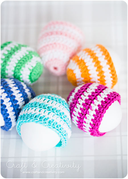 patterned crochet egg cozies (via craftandcreativity)