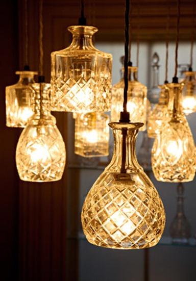 DIY Crystal Decanter Pendant Lights