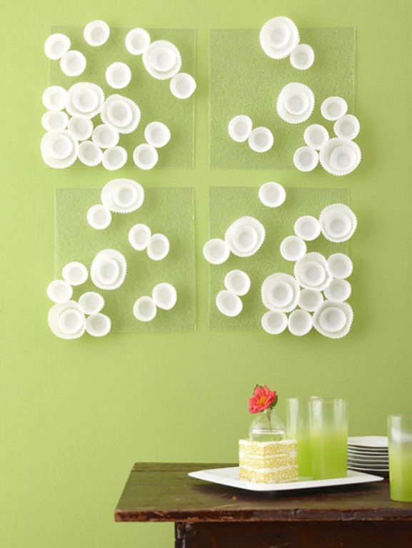 Diy Cupcake Wrappers Wall Art