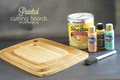 DIY Cutting Boards With Pastel Painted Edges