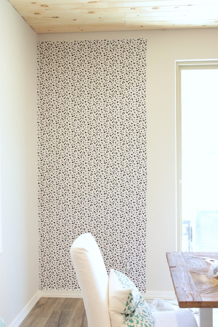 Picture Of diy dalmatian print fabric accent wall  4