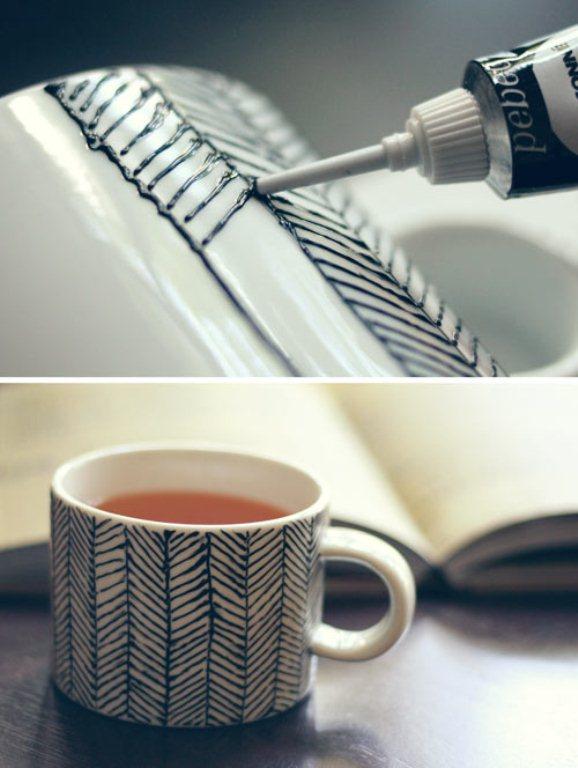 Diy Decorated Porcelain Mug