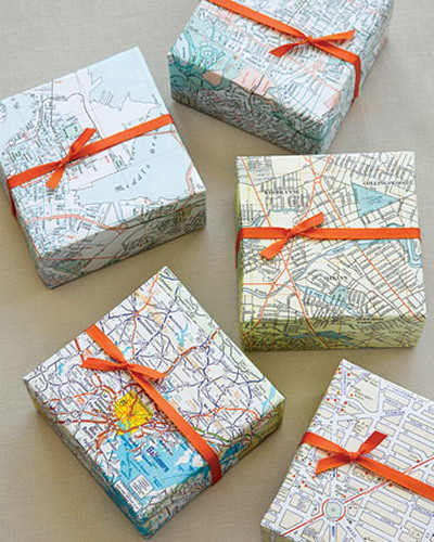 diy decorating with maps shelterness