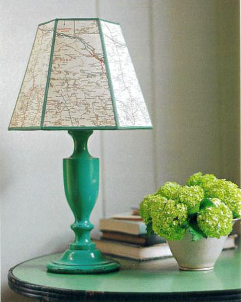 Diy decorating with maps 11