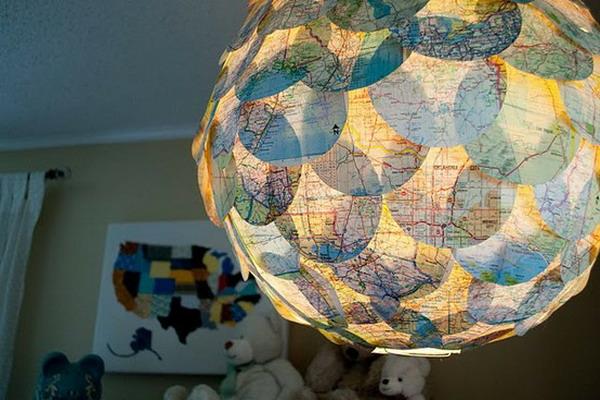 25 diy interior decorating ideas to use maps photo 11