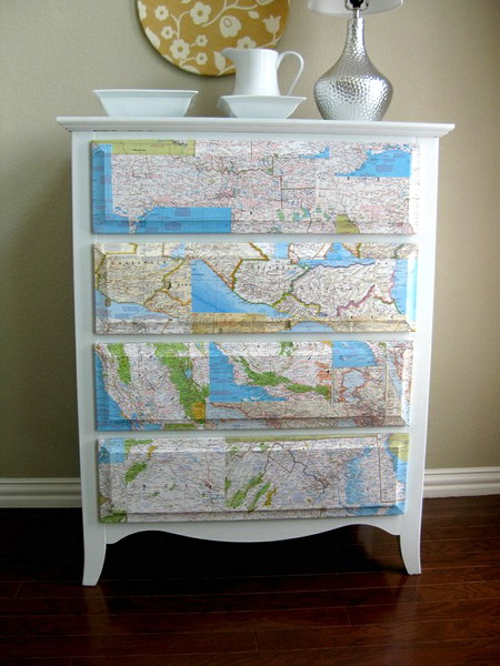 25 DIY Interior Decorating Ideas To Use Maps  Shelterness