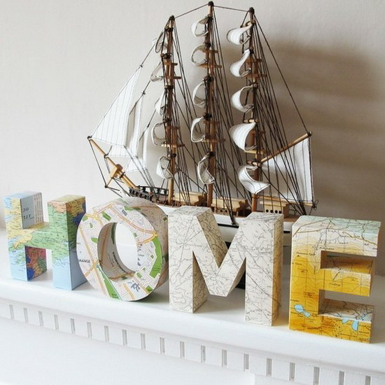 Diy Disine Interier: Picture Of Diy Decorating With Maps