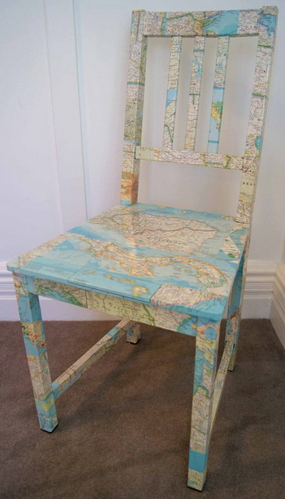 Diy decorating with maps 8