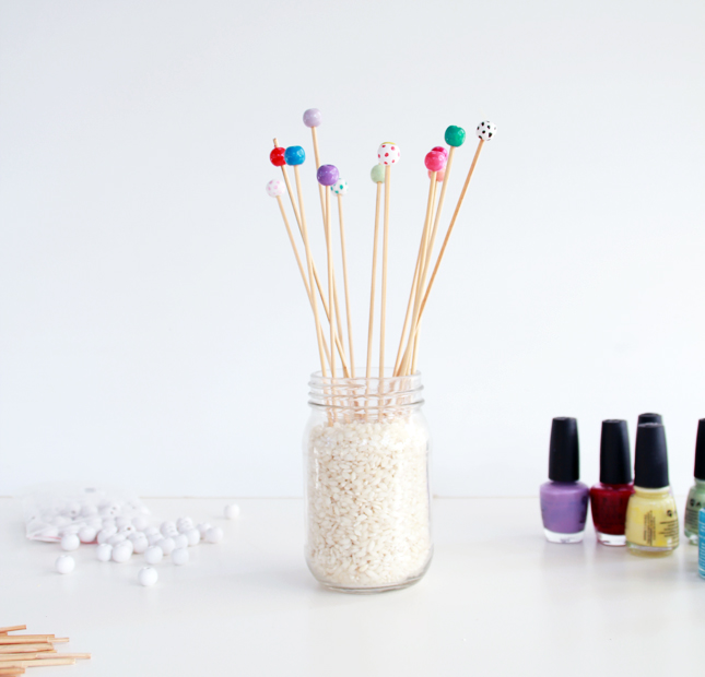 Diy Decorative Bead Drink Stirrers For Parties