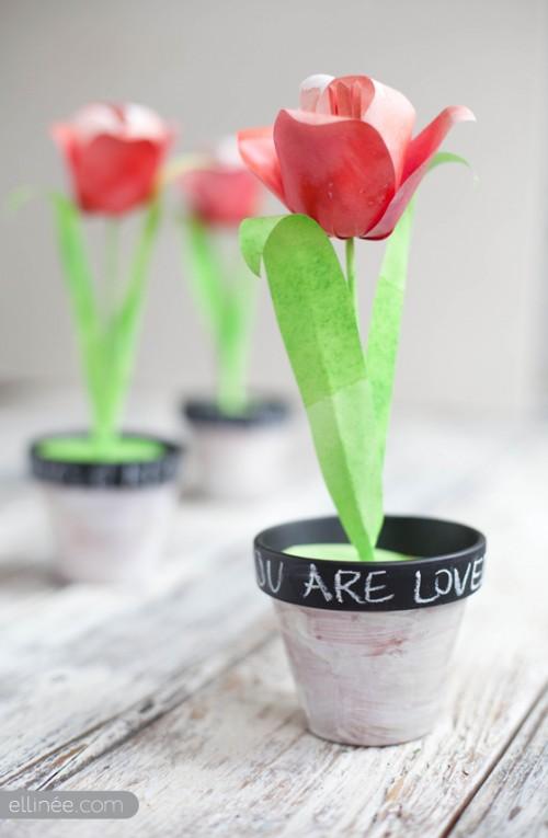 diy decorative paper tulips
