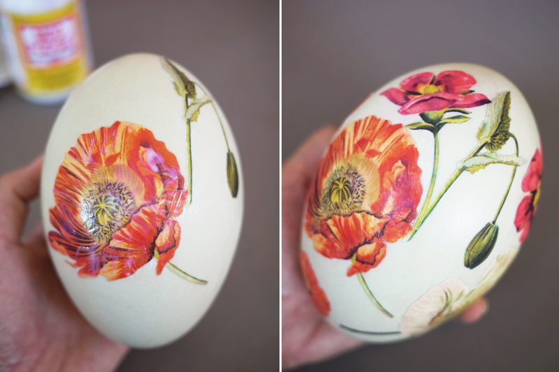 Diy Decoupage Eggs With Vintage Botanical Prints