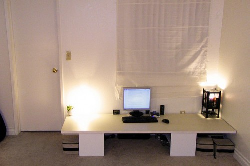 DIY Desk For Those Who Prefer To Sit On Pillows