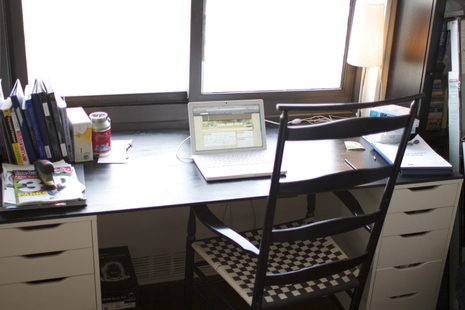 Diy Desk From Two Bookcases