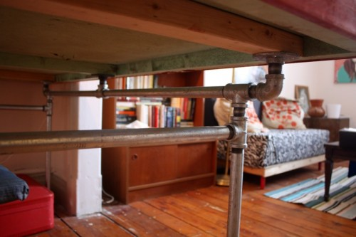 Diy Desk Of Salvaged Door And Pipes